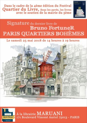 Paris Quartiers Bohèmes Aquarelles avec Bruno FortuneR