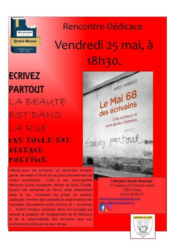 Mai 68 des écrivains - Festival Quartier du Livre