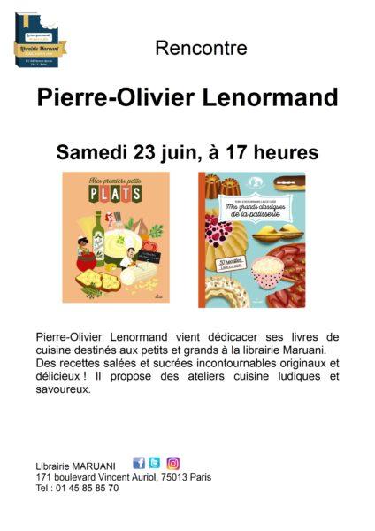 Rencontre avec Pierre-Olivier Lenormand