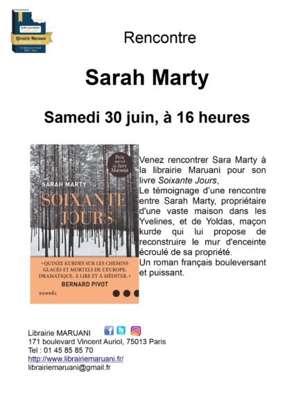Rencontre Sarah Marty