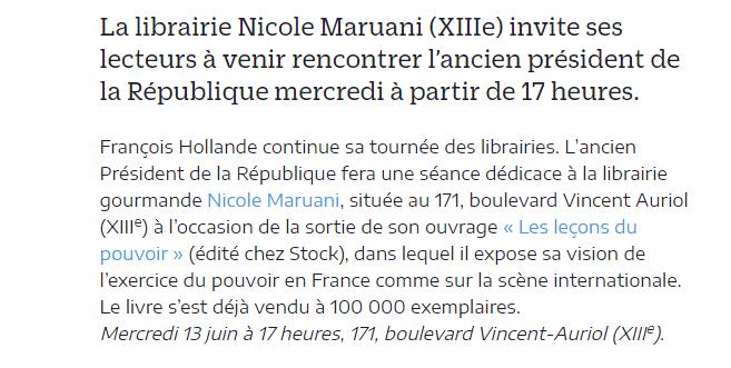 hollande 2018 dédicace maruani le parisien
