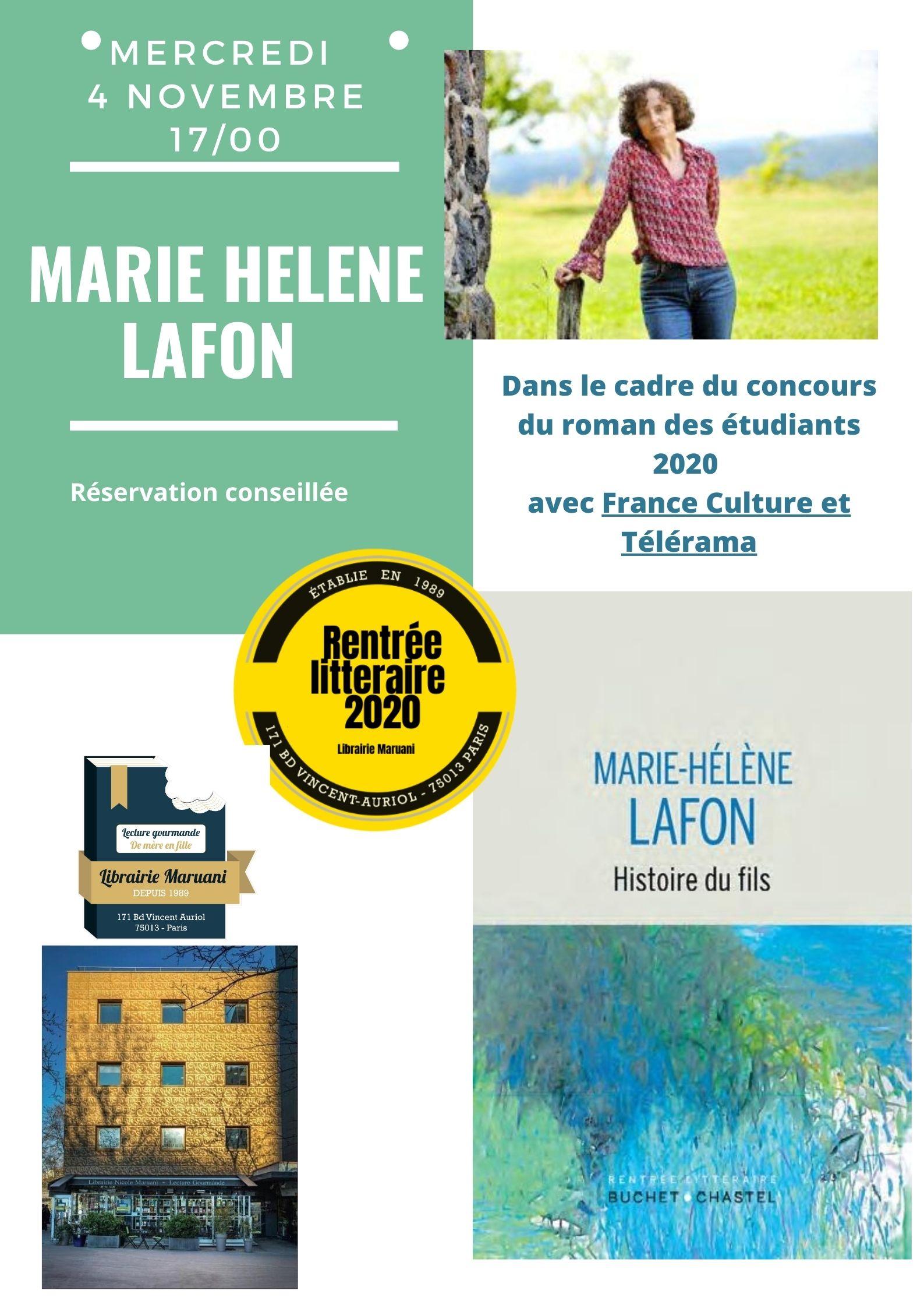 Rencontre Marie-Helene Lafon