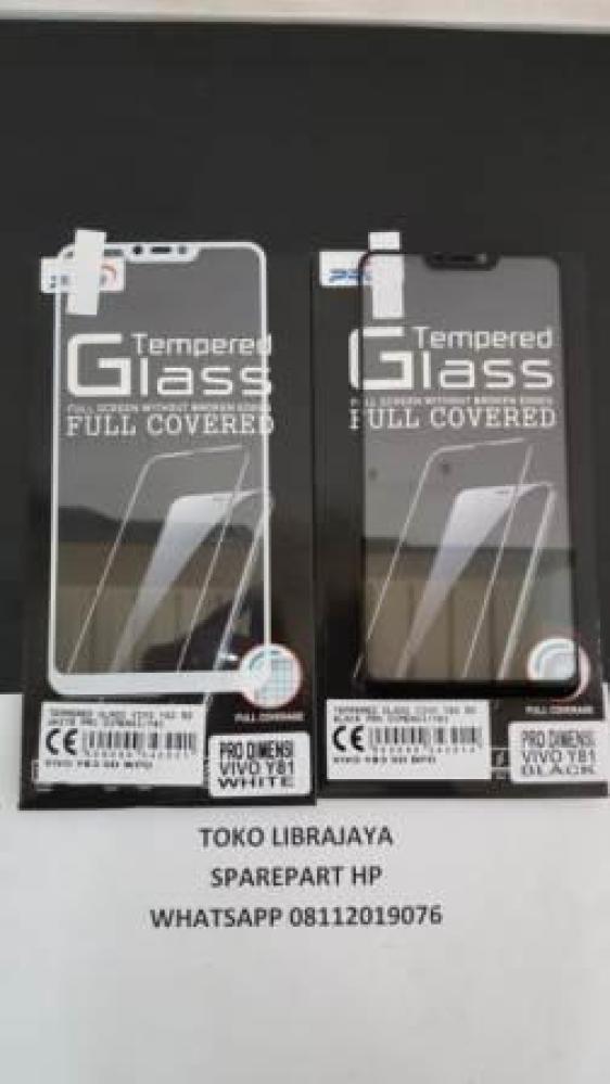 Tempered Glass Vivo Y83 5D Black Pro Dimensi-Vivo Y81