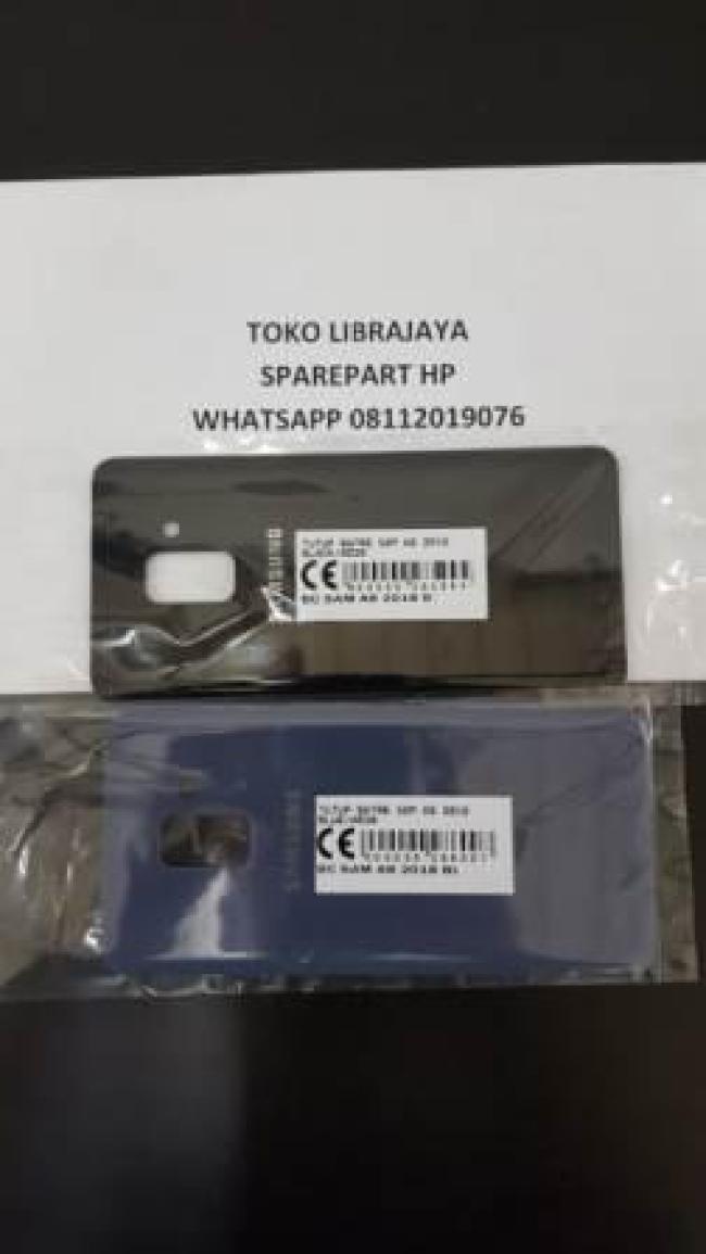 Tutup Batre Samsung Galaxy A8 2018 Black-SM-A530