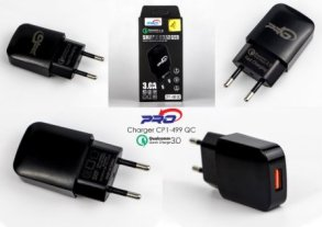 BATOK CHARGER CP1-499 BLACK PRO-3.0A 1USB-FAST
