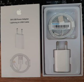 CHARGER IPHONE 5 WHITE ORI 100% PACK-KABEL DATA-IPHONE 6-IPHONE 7