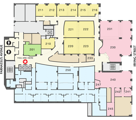 Parnassus Library 2nd Floor Map