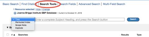 search tools screeshot