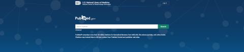 PubMed landing page screenshot