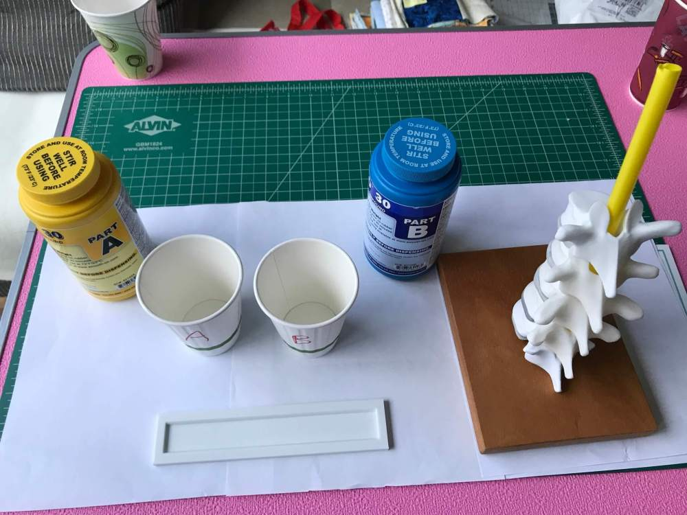 Supplies for making the model