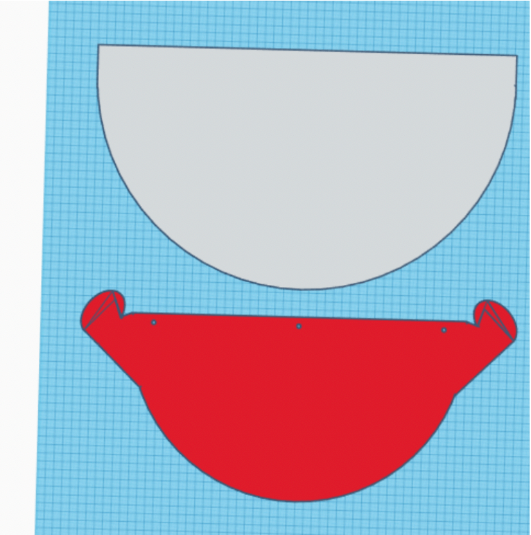 Disposable lens cuff template modeled in Tinkercad