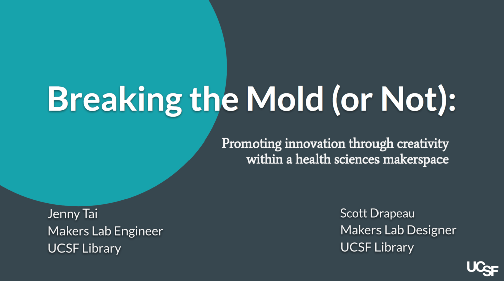 Breaking the Mold (or Not) presentation slide