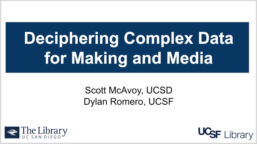 Deciphering complex Data for Making and Media presentation slide