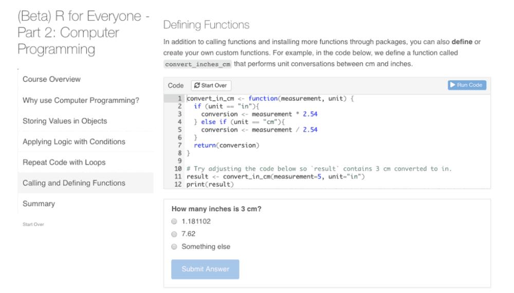 screenshot of a function