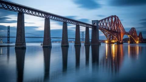 Forth Bridge in Queensferry Scotland