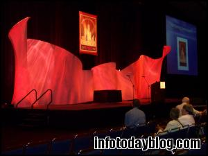 The stage glowed before the Opening General Session began.