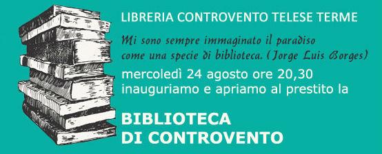Copertina 2 evento inaugurazione bibliotecacontrovento Libreria Controvento Telese copia