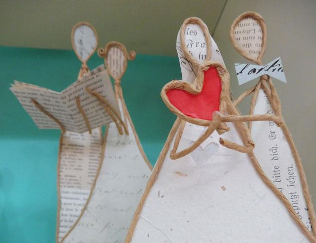 Ma Fleur, sculture di carta