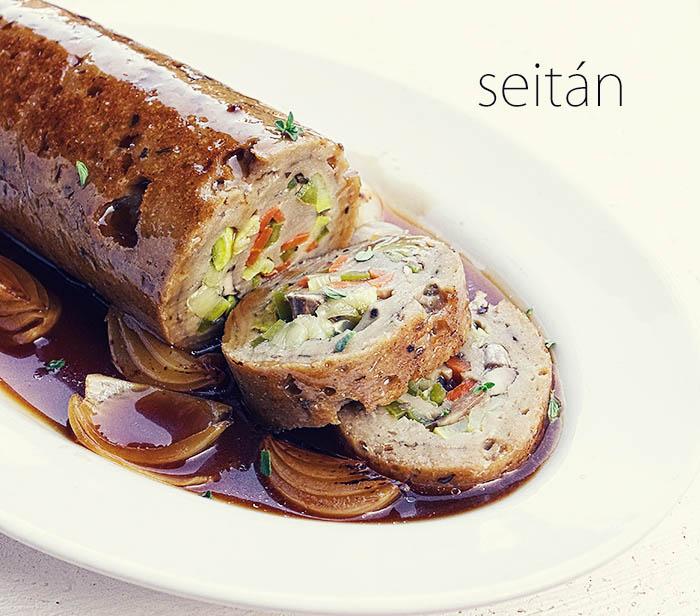 Redondo de seitán - Libro Cocina Vegana