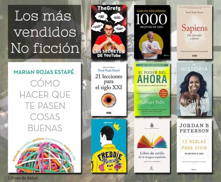Libros más vendidos - No ficción - 13 de enero