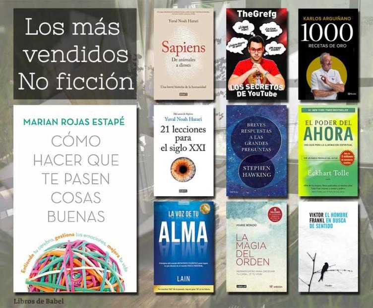 Libros más vendidos 20 de enero de 2019 - No ficción
