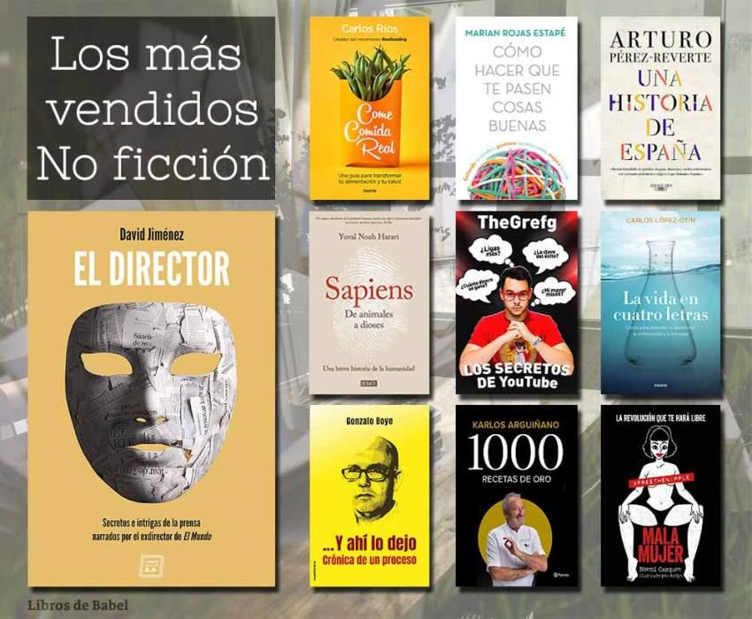 Libros más vendidos - 12 mayo 2019 - No Ficcion