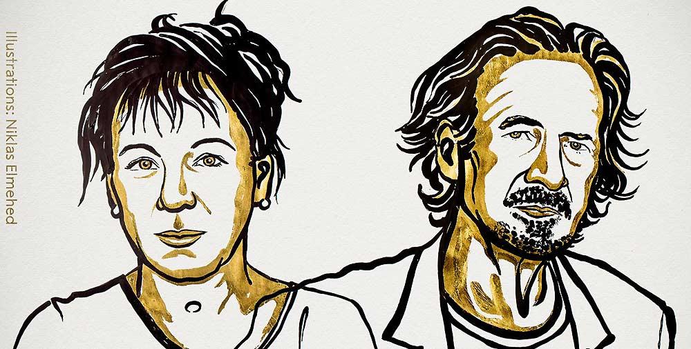 La polaca Olga Tokarczuk y el austríaco Peter Handke, Premios Nobel de Literatura 2018 y 2019