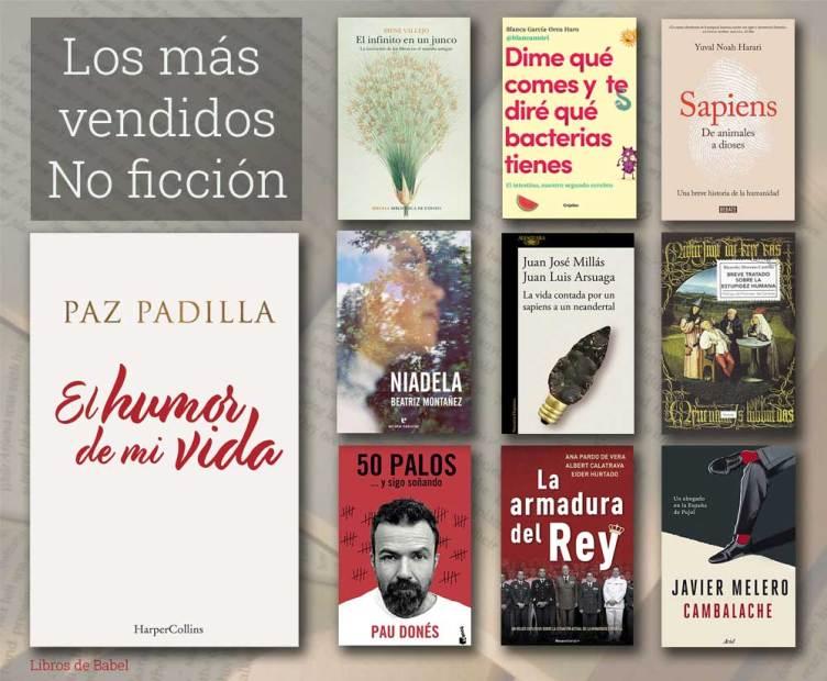 Portadas de los libros de no ficción más vendidos en las librerías españolas la semana del 19 al 25 de abril de 2021.