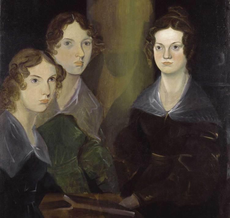 Retrato de las hermanas Brontë, Anne, Emily y Charlotte, pintado por su hermano Branwell.