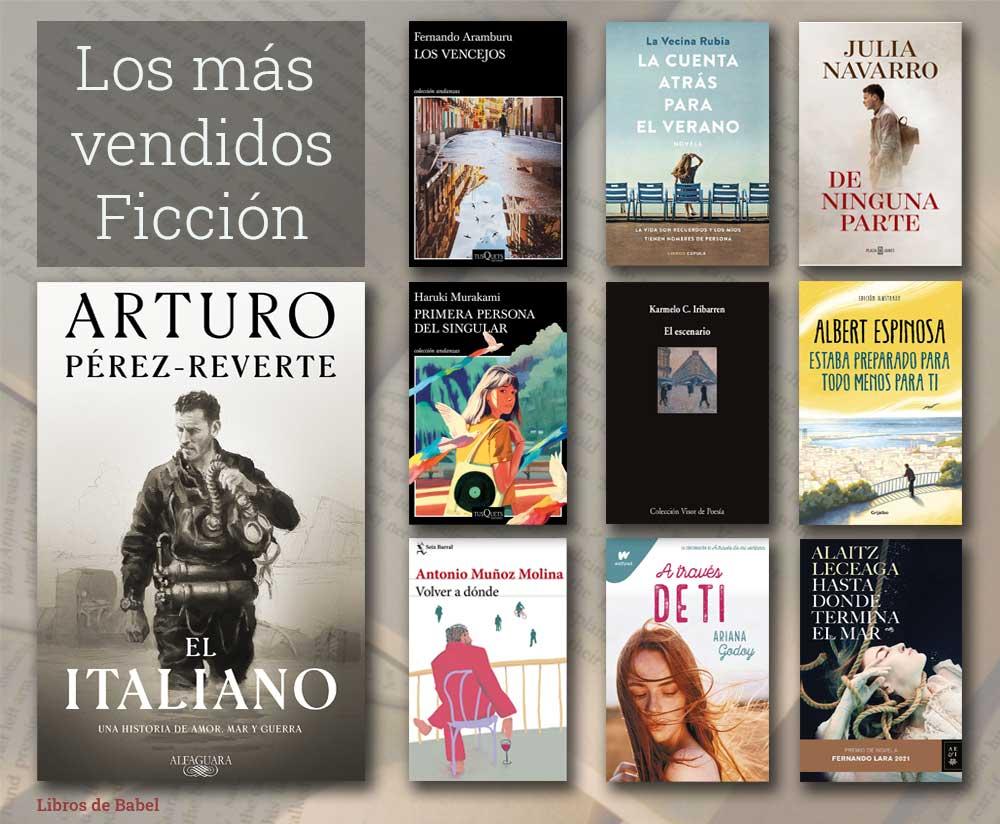 Libros más vendidos del 3 al 10 de octubre de 2021