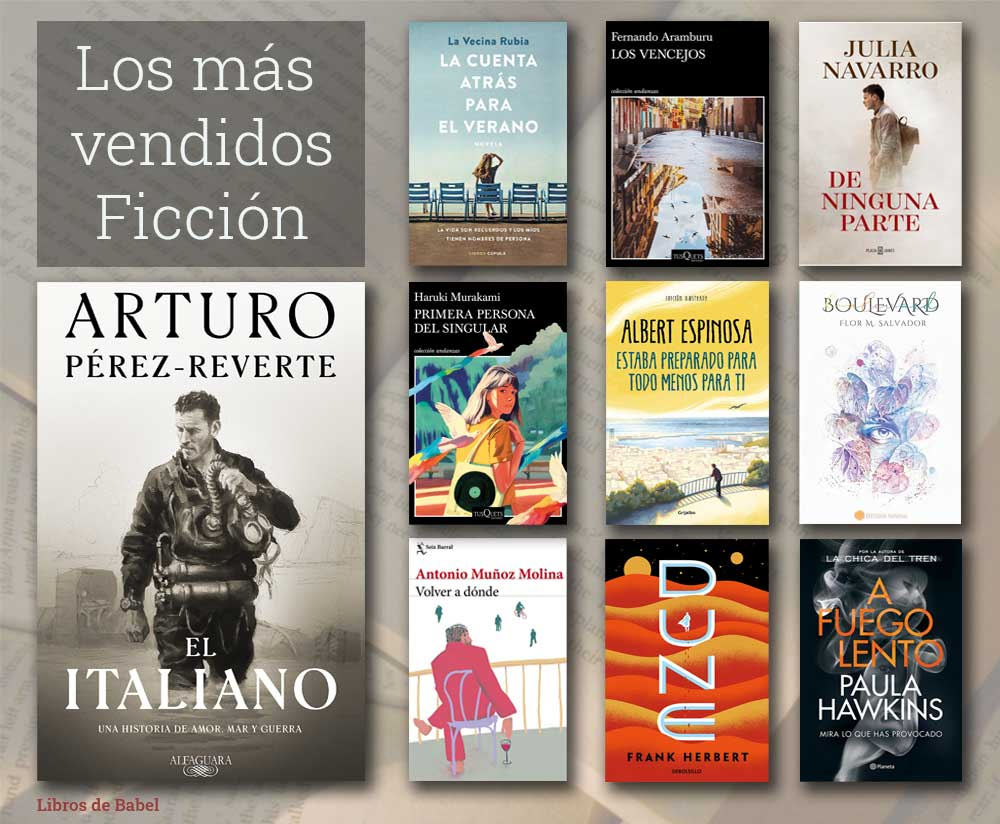 Libros más vendidos del 11 al 17 de octubre de 2021