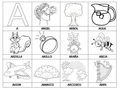 Ejercicios para aprender a leer: Primeras palabras A-D