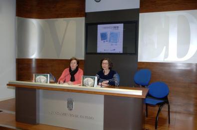 Rueda de prensa de presentación de LibrOviedo, con Mar Prieto, presidenta de Libroviedo, y Mercedes González, concejala de Educación del Ayuntamiento de Oviedo