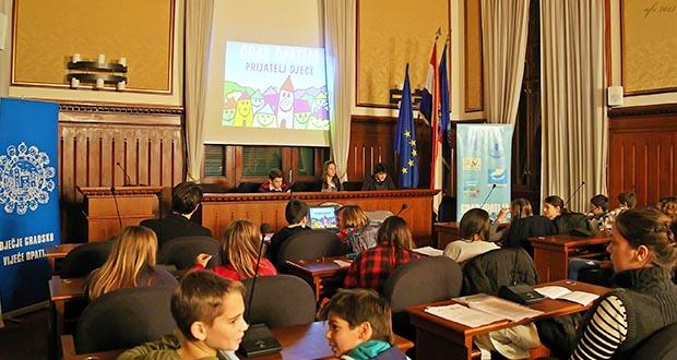 sjednica Dječjeg gradskog vijeća