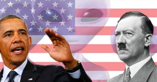 Obama Hitler UFO