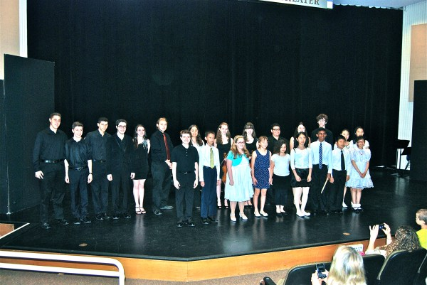 On May 31, 2013 at Hofstra University, 17 talented young composers (ages 10-18) were selected to have their works performed on LICA's 40th annual Music By and For Students Concert. This picture shows all the composers and performers following the exceptional concert.