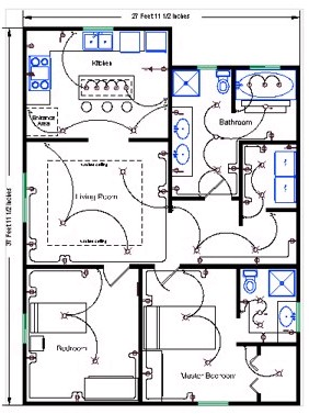 House plan electrical layout