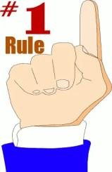number 1 rule of licensing