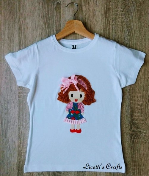 Camiseta personalizada niña vestido denim