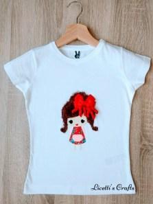 Camiseta infantil personalizada niña vestido