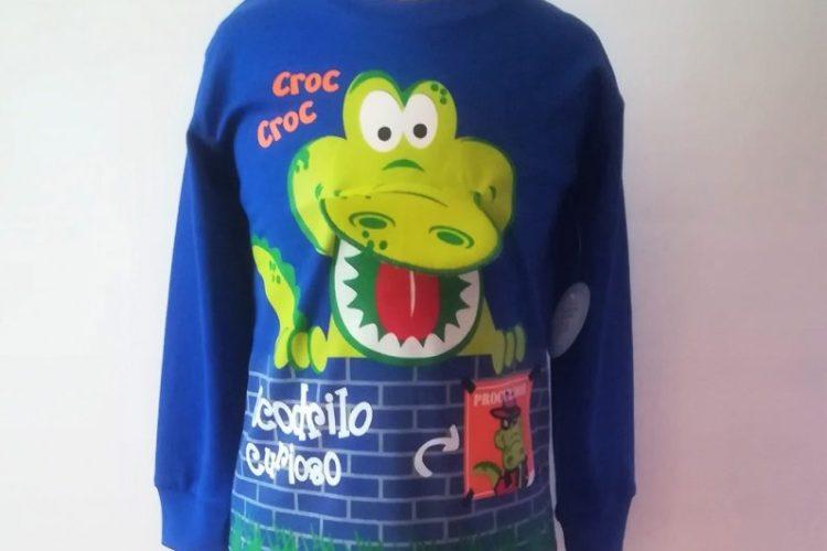 Camisetas manga larga pima cocodrilo boca