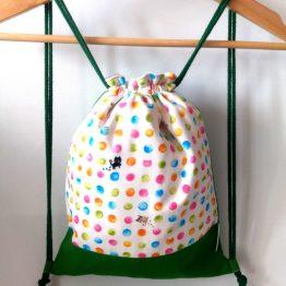 mochila infantil hecha a mano gatos bolitas