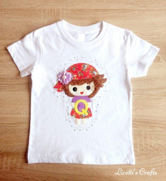 camiseta manga corta con relieve hecha a mano pirata