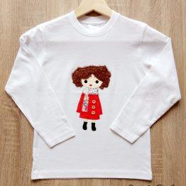 camiseta manga larga hecha a mano botones chaquetón