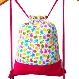 mochila cordon infantl pajaros multicolor