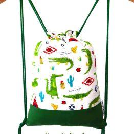 mochila cuerdas infantil cocodrilo divertido