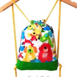 mochila cuerdas infantil perro pintado