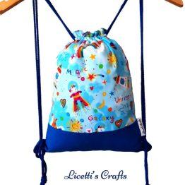 mochila cuerdas infantil unicornio astronauta