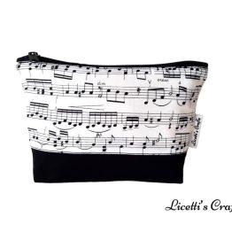 neceser algodon hecho a mano notas musicales