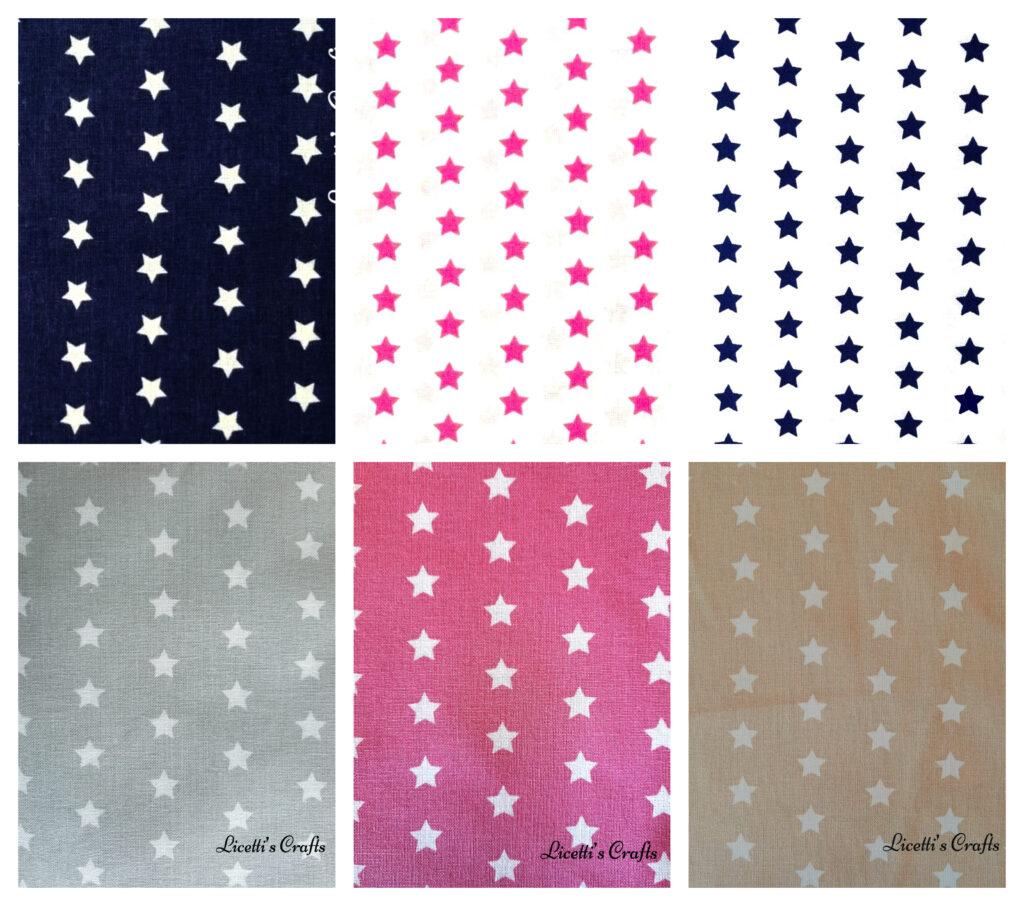 tejidos para regalos estrella